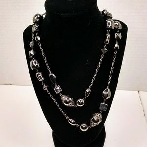 Jewelry - Gunmetal beaded necklace